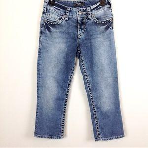 Silver Jeans Flap Pocket Capri 27x 21 - N184